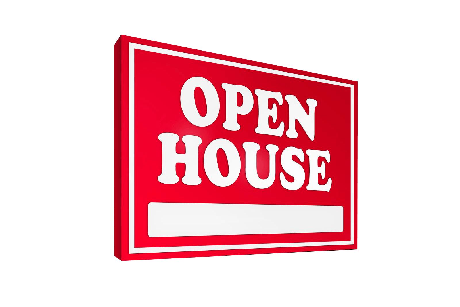 Open House Red Sign On The Path Georgia Foster Care